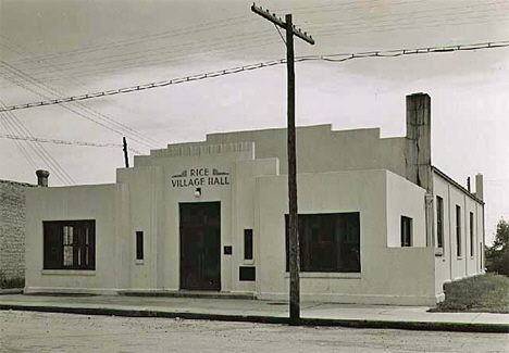 Rice Village Hall, Rice Minnesota, 1939