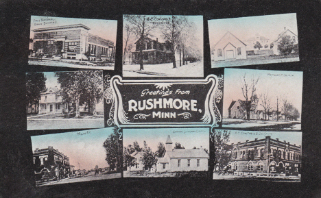 Greetings from Rushmore Minnesota, 1912