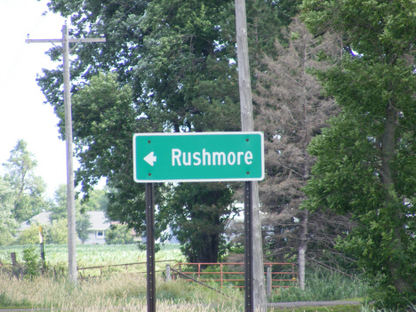 Rushmore sign on County Highway 35, Rushmore Minnesota, 201