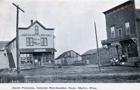 Jacob Peterson, General Merchandise Store, Shafer Minnesota, 1910's