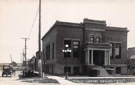 Public Library, Spring Valley Minnesota, 1920's