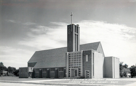 Our Savior's Lutheran Church, Spring Valley Minnesota, 1950's