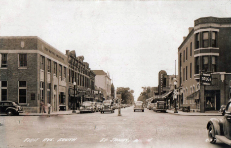 First Avenue South, St. James Minnesota, 1920's