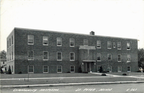 Community Hospital, St. Peter Minnesota, 1940's