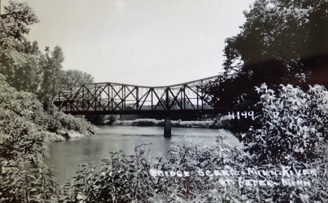 Highway Bridge over Mississippi River, St. Peter Minnesota, 1950's