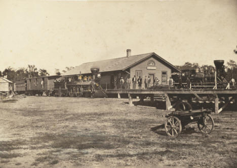 Railroad Depot, St. Peter Minnesota, 1870