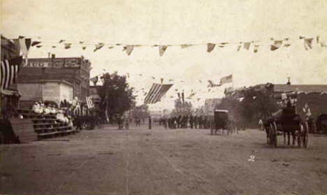 Street celebration, St. Peter Minnesota, 1895