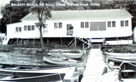 Balsam Beach on Gull Lake, Tenstrike Minnesota, 1940's