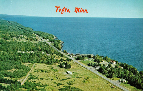 Aerial view, Tofte Minnesota, 1960's