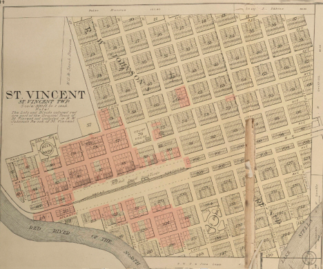 Map of St. Vincent Minnesota, 1912