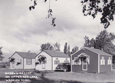 Gabby's Resort on Upper Red Lake, Waskish Minnesota, 1940's