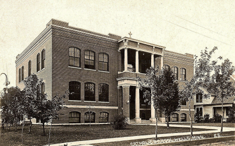Catholic School, Wells Minnesota, 1920's?