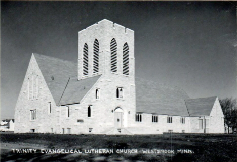 Trinity Evangelical Lutheran Church, Westbrook Minnesota, 1950's