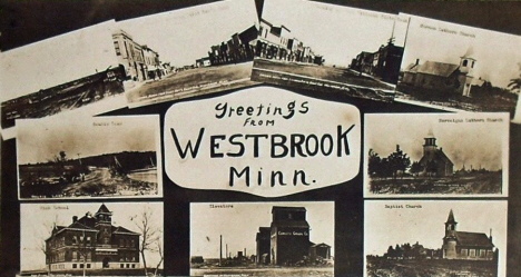 Multiple scenes, Westbrook Minnesota, 1910's