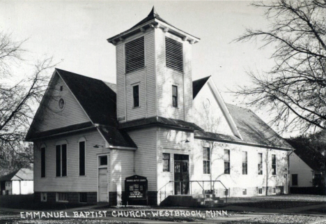 Emmanuel Baptist Church, Westbrook Minnesota, 1950's