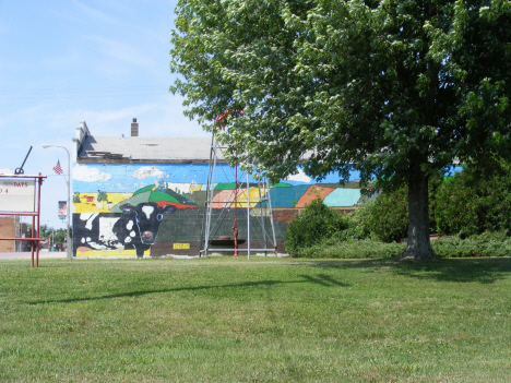 Park and mural, Westbrook Minnesota, 2014