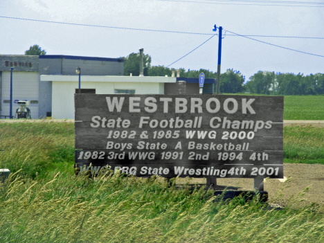 Sign, Westbrook Minnesota, 2014