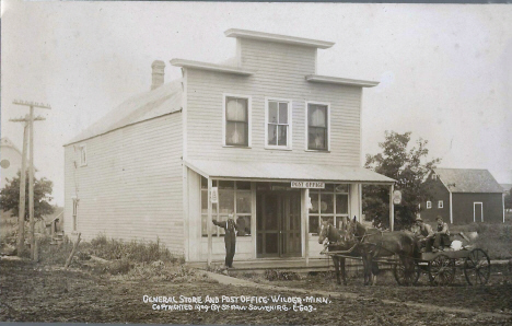 General Store and Post Office, Wilder Minnesota, 1909