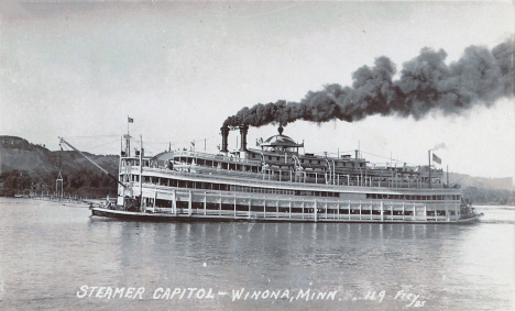 Steamer Capital, Winona Minnesota, 1920's