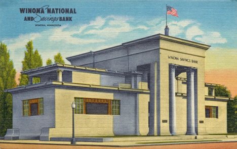 Winona National and Savings Bank, Winona Minnesota, 1945