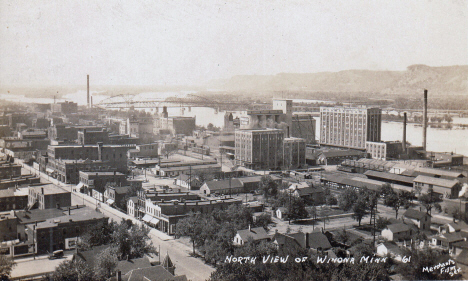 North view of Winona Minnesota, 1920's