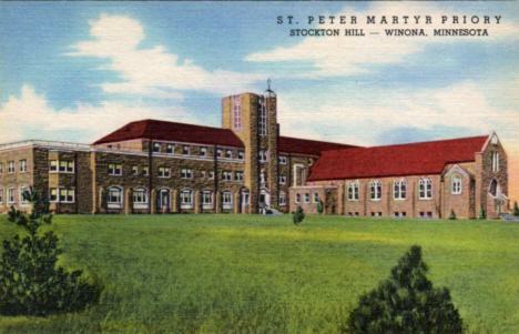 St. Peter Martyr Priory at Stockton Hill, Winona Minnesota, 1940's