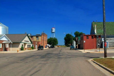 Street scene, Wood Lake Minnesota, 2007
