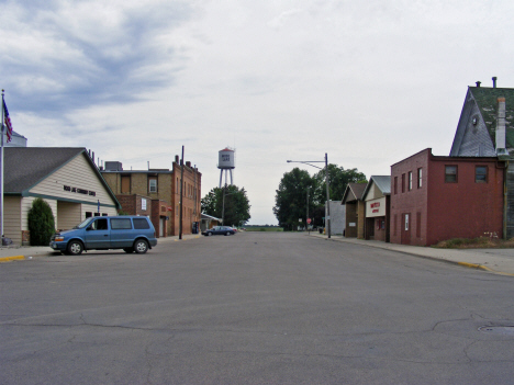 Street scene, Wood Lake Minnesota, 2011