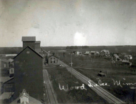 Birds eye view, Wood Lake Minnesota, 1908