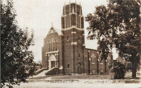 German Lutheran Church, Wood Lake Minnesota, 1920's