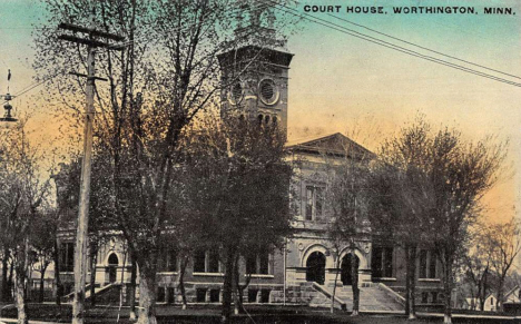 Nobles County Court House, Worthington Minnesota, 1916