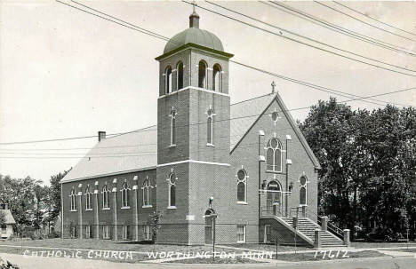 Catholic Church, Worthington Minnesota, 1950's