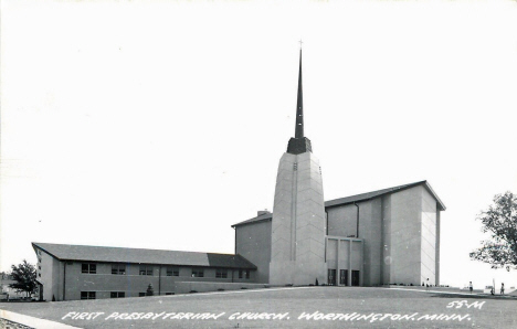 First Presbyterian Church, Worthington Minnesota, 1950's