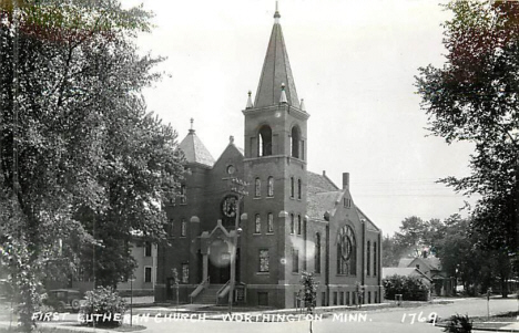 First Lutheran Church, Worthington Minnesota, 1950's