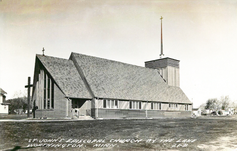St. John's Episcopal Church by the Lake, Worthington Minnesota, 1950's