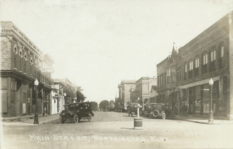 Main Street, Worthington Minnesota, 1920's