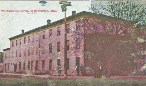 Worthington Hotel, Worthington Minnesota, 1909