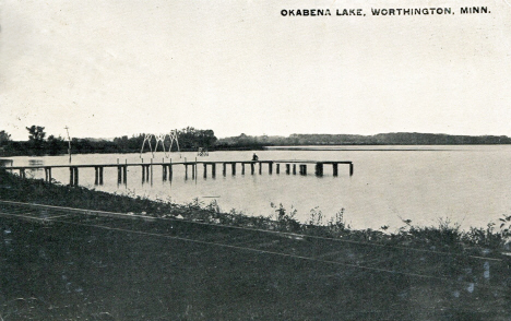 Okabena Lake, Worthington Minnesota, 1912