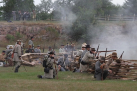 Southern troops fight for their lives. Photo provided by Craig Grantz in 2012.