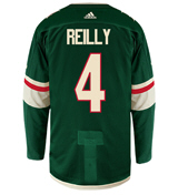 Mike Reilly Minnesota Wild Adidas Authentic Home NHL Hockey Jersey