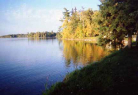 View across lake