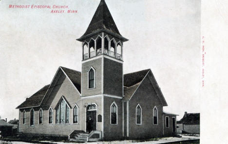 Methodist Episcopal Church, Akeley Minnesota, 1908