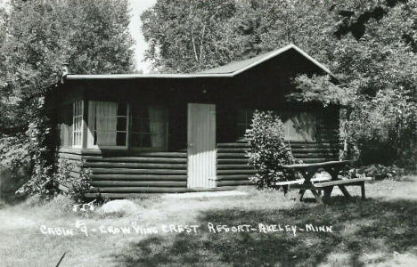 Cabin 9 at Crow Wing Crest Resort, Akeley Minnesota, 1950's