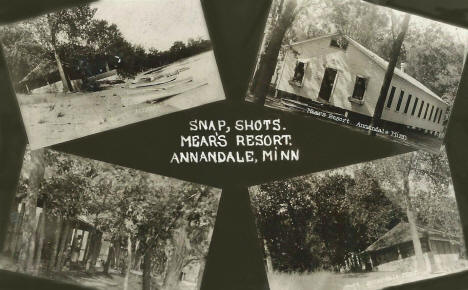 Snapshots, Mear's Resort, Annandale Minnesota, 1923