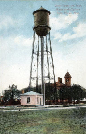 Water Tower, Belle Plaine Minnesota, 1911