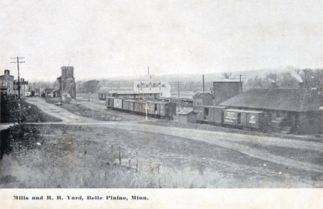 Mills and railroad yard, Belle Plaine Minnesota, 1910