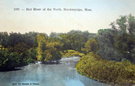 Red River of the North, Breckenridge Minnesota, 1910