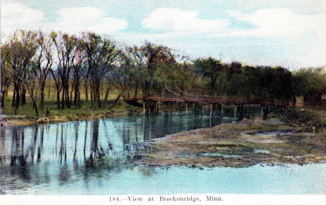 View at Breckenridge Minnesota, 1913