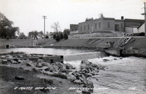 Dam at Breckenridge Minnesota, 1953