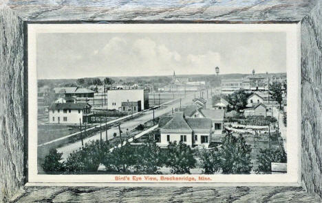 Birds eye view, Breckenridge Minnesota, 1913